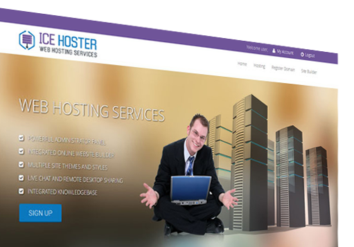 iScripts AutoHoster is a web host software which that you start your own web hosting business in minutes. Supports account management, billing with paypal, credit cards, automated billing, recurring billing, domain registration, online payment, enom api support etc..It comes with an integrated helpdesk and website builder.