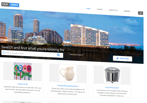 You create your own niche and local business directories using EasyIndex.
