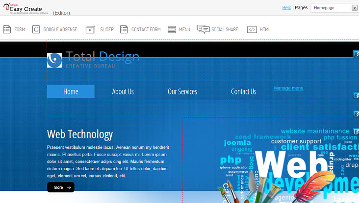 online website building software