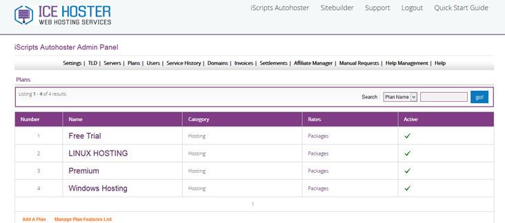 web hosting manager
