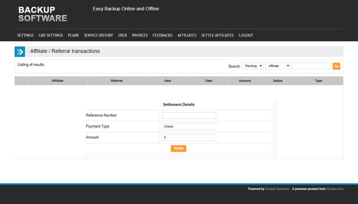 Domain registration script