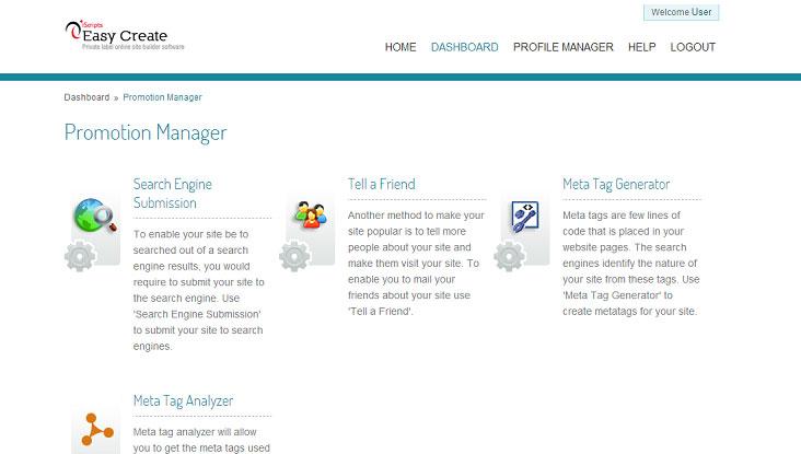 online site builder script