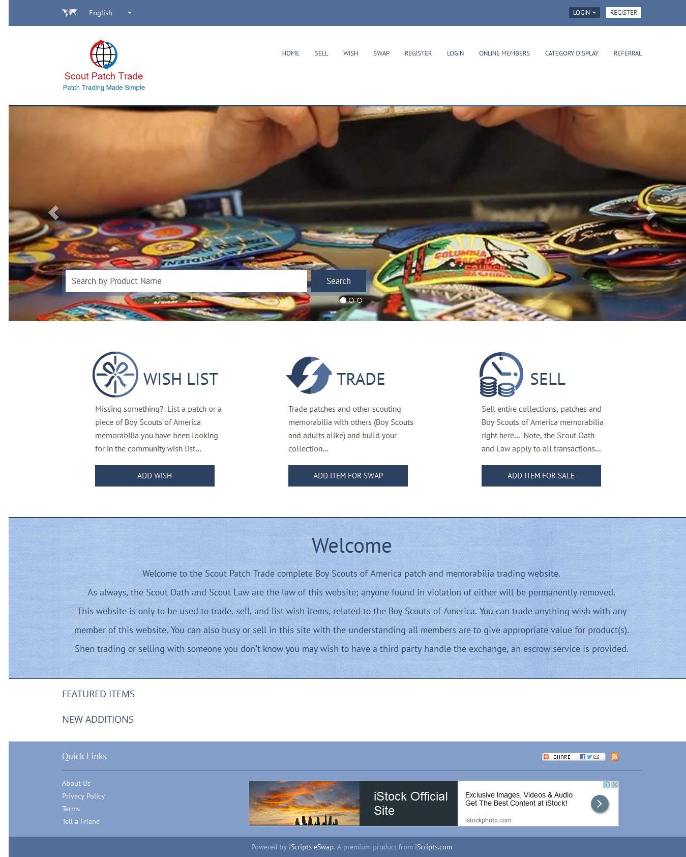 Online Barter Exchange Network Script  Swap Meet Software