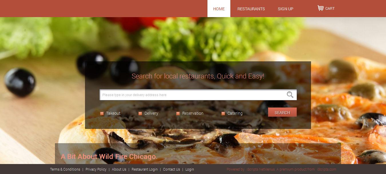 Multi Restaurant Delivery System, Online Web order Software