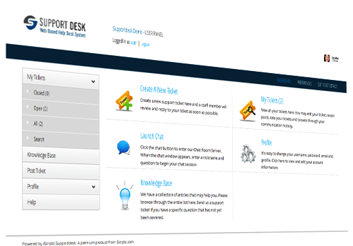 This PHP script supports live chat, remote desktop, knowledge base and email piping. Features email piping, spam blocker, work flow management and POP3/SMTP support.