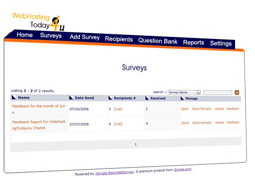 iScripts EasyWebSurvey is a simple but powerful web survey script to conduct online surveys.